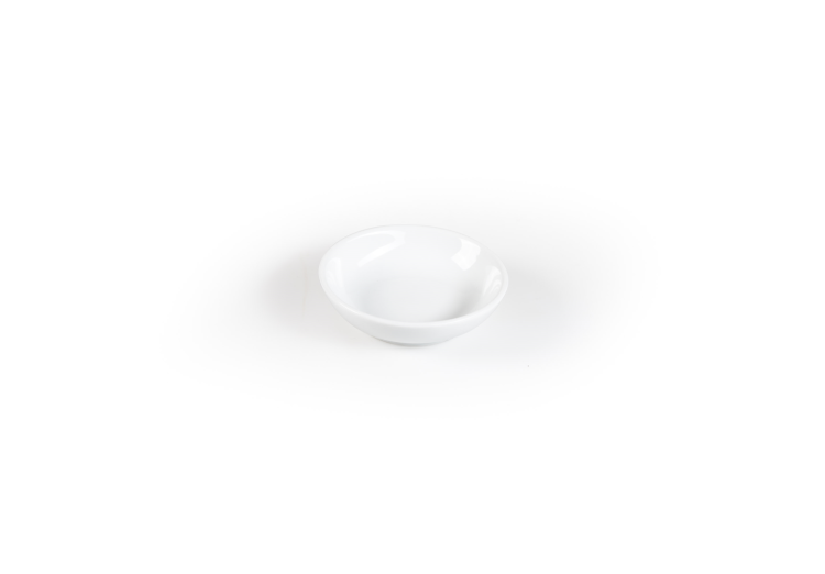 Mini diep bordje wit