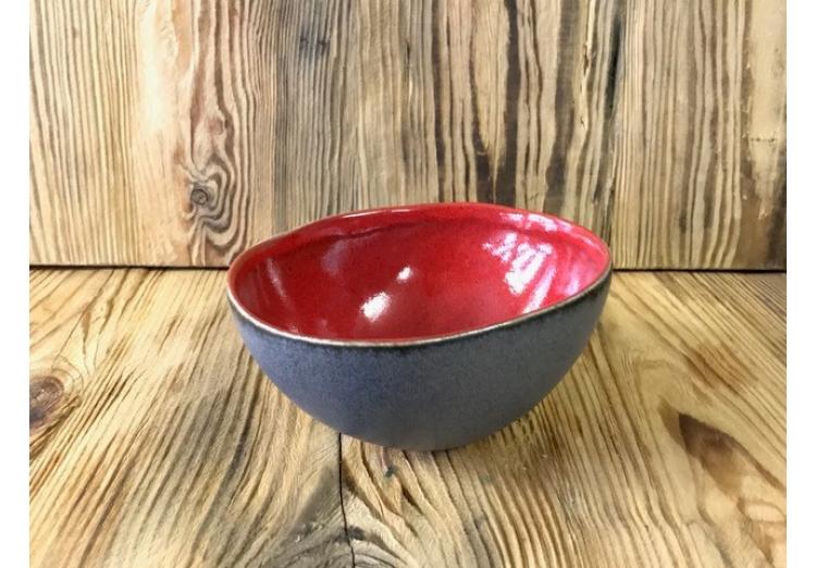 Bowl Basalt zwart ovaal 12 cm x 14,5 cm