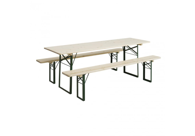 Set woodstocktafel + zitbank