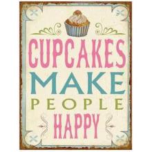 Tekstbord 'Cupcakes...'