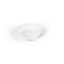 Groot diep bord / pastabord wit Kopenhagen met brede rand