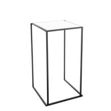 Quadrum tafel zwart Met wit Marmer blad (60 *60 cm)
