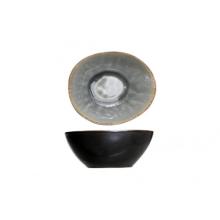 Bowl ovaal blauw/grijs 10.5x9xH4cm