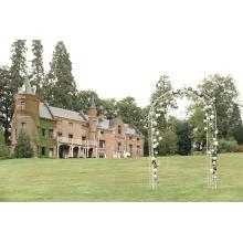 Rozenboog Vintage White met zijdebloemen