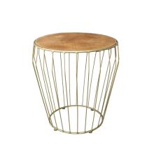 Bijzettafel Gold /Wood