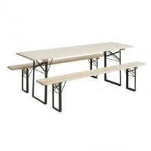 Set Biertafel + zitbank hout