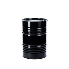 Metalen olievat zwart gelakt