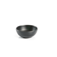 Asia potje zwart melamine 10 cm