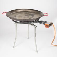 Paellapan compleet met onderstel, pan, staander en gasfles