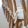 Set Crossback stoel + Vintage wit kussen