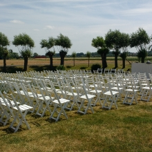 Tuin, white, stoelen